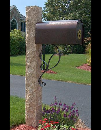 Westwood Mills Granite Mailbox Post