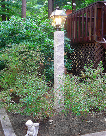 Granite light post westwood mills granite light post mozeypictures Image collections