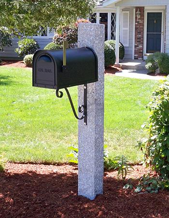 Mailbox Post Iron Bracket Granite