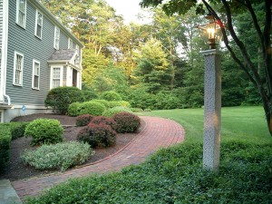 Granite posts mailbox lamp fence stone veneer boston cape granite posts accessories granite lamp post westwood mills 300x225 mozeypictures Image collections