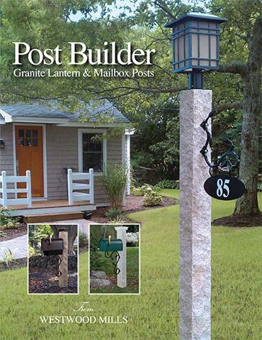Post Builder - Granite Lantern & Mailbox Posts by Westwood Mills