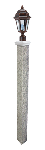 Rock 2 Thermal 2 Granite Lamp Post Westwood Mills