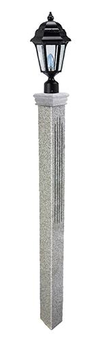 Thermal Fluted Granite Lamp Post Westwood Mills
