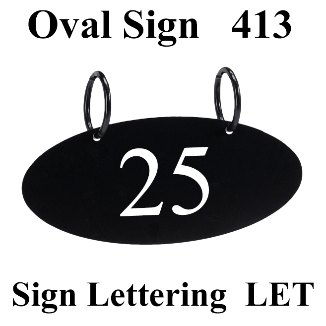 Oval Sign and Lettering