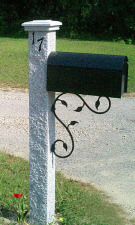 Engraved Granite Mailbox Post - Pineapple Finish