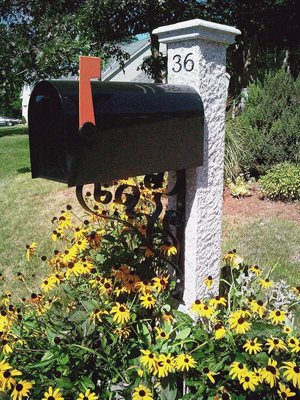 Engraved Granite Post and Cap