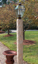 Granite Lamp Post - Golden Wheat