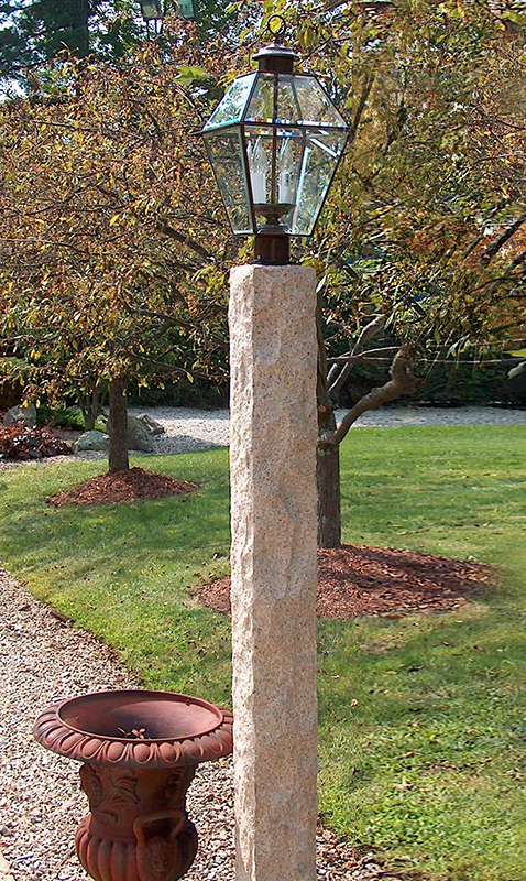 Golden Wheat Lamp Post