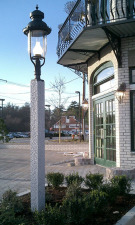 Granite Lamp Post - NH Gray