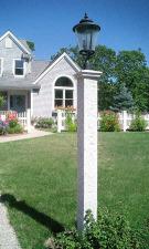 Granite Lantern Post & Cap
