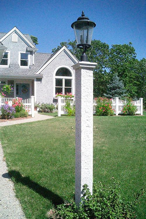 NH Gray Granite Lantern Post & Cap