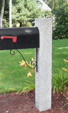 Granite Mailbox Post NH Gray