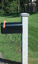 Granite Mailbox Post Pineapple Finish