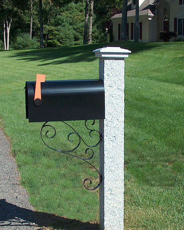 Granite Mailbox Post Pineapple Finish