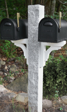 Granite Mailbox Post Rock2 Thermal2 Finish