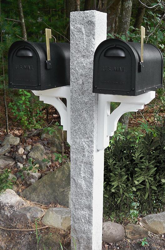 Granite Mailbox Post Rock2 Thermal2 Finish