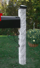 Granite Mailbox Post Rock2 Thermal2 Iron Cap