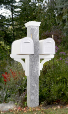 Granite Mailbox Post Rock2 Thermal2 Wood Brackets