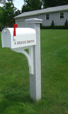 Granite Mailbox Post THERMAL-FLUTED