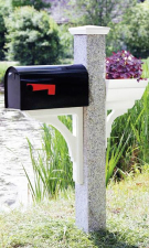 Granite Mailbox Post Wood Cap Bracket