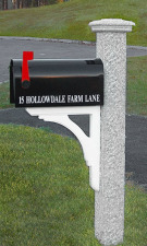Granite Post Pineapple Finish Mailbox Lettering
