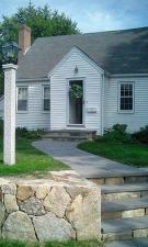 NH Gray Lantern Post