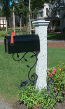 Pineapple Mailbox Post Iron Bracket