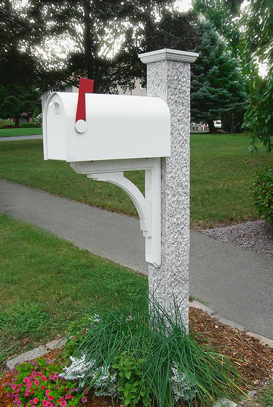 Pineapple Mailbox Post Wood Bracket