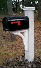 Black Mailbox Granite Post