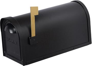 Cast Aluminum Mailbox-BLACK-12MAILBXB