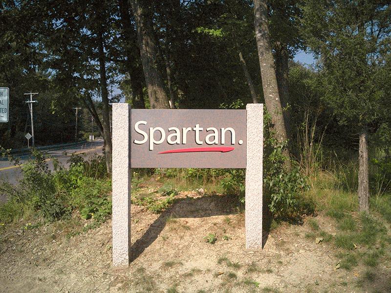 Granite Fence Posts Business Signage