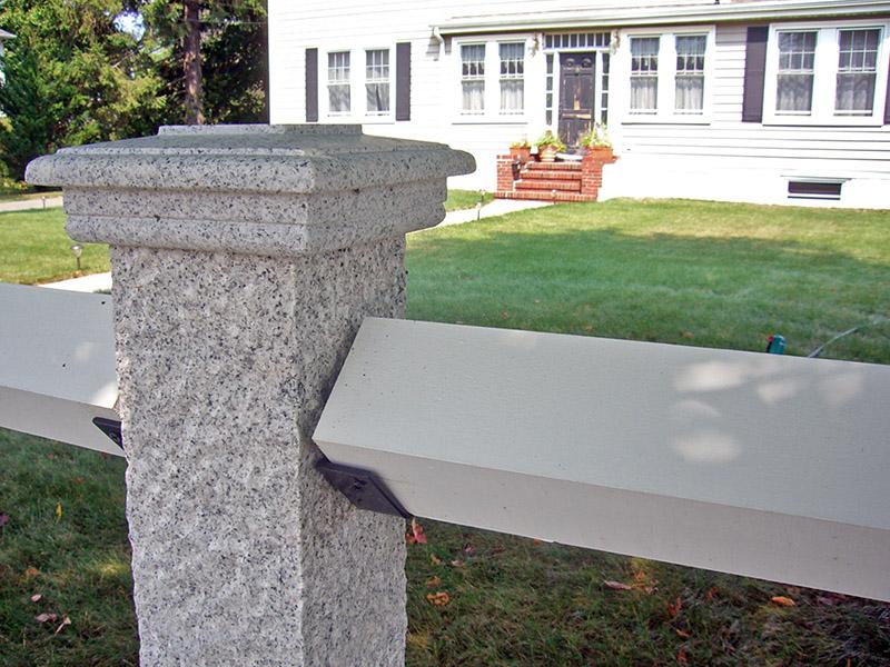 Granite Fence Post & Cap