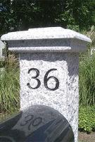 Granite Post Engraving ENG
