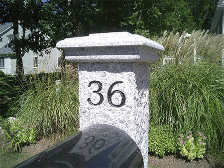 Granite Post Engraving ENG