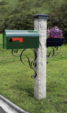 Green Mailbox Iron Bracket and Cap
