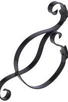 Iron Planter-Sign Bracket BLACK-155SMBB