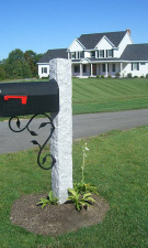 NH Gray Granite Post Iron Bracket