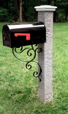 Wood Cap Iron Bracket Granite Post