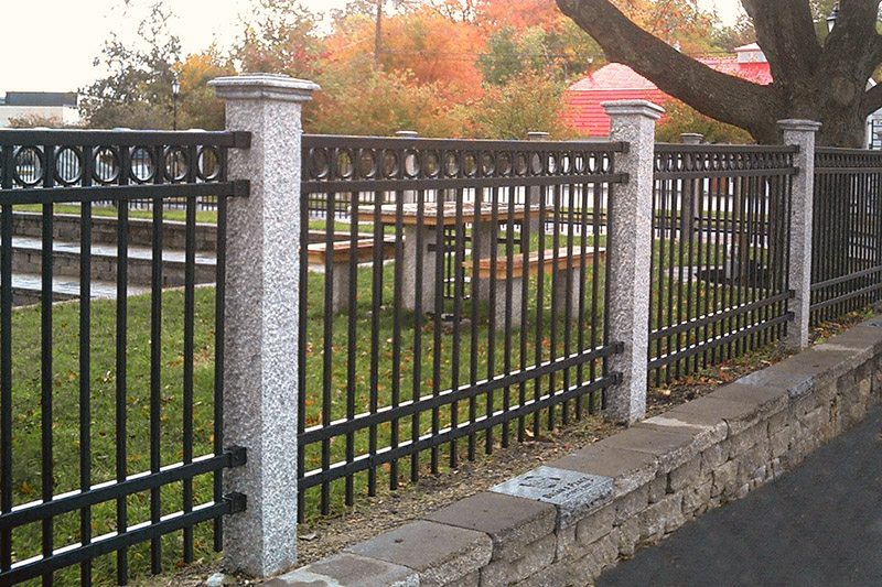 Granite Fence Posts Pineapple Finish - Iron
