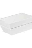 wood flower Box WHITE- FLBWB