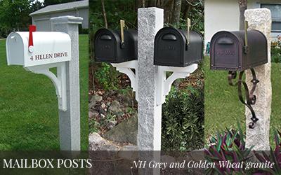 Granite Posts, Mailbox Posts