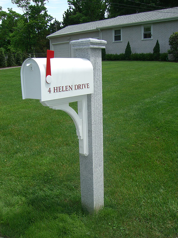 Granite-Mailbox-Post-THERMAL-FLUTED1