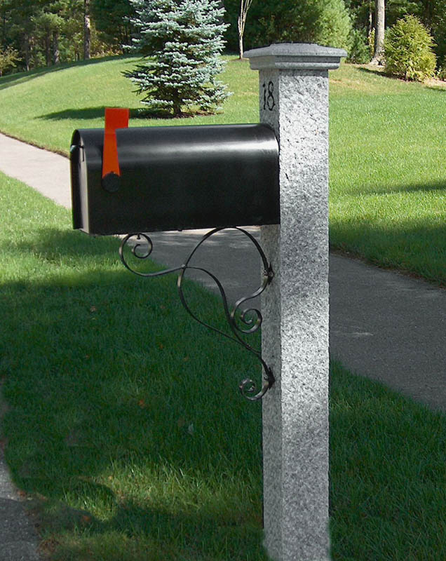 Granite Mailbox Post Gallery Westwood Mills